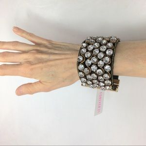 Forever 21 Rhinestone and Gold Cuff